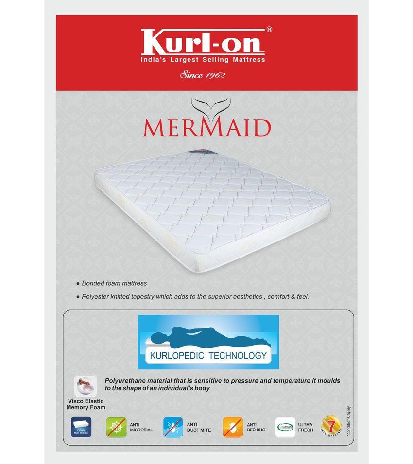 kurl on mermaid 5 inch king size foam mattress 72x72x5 buy kurl on