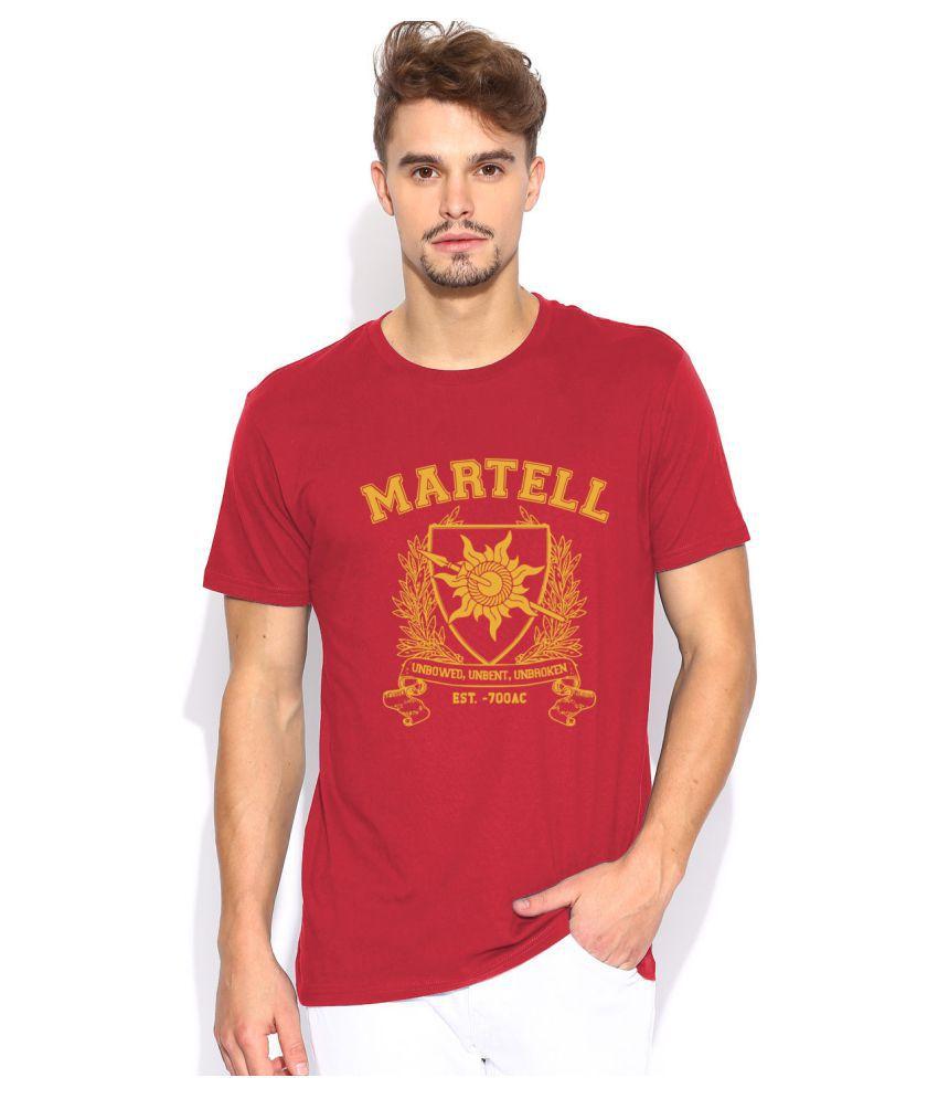 Artywear Red Round T-Shirt