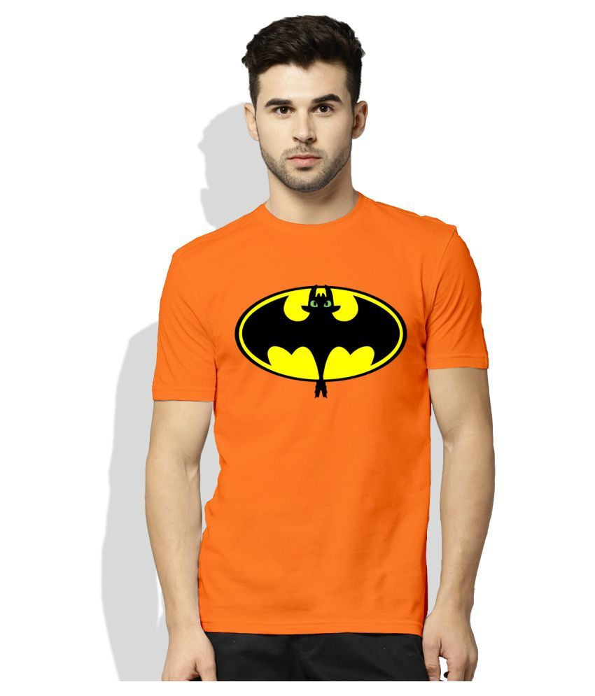 Artywear Orange Round T-Shirt