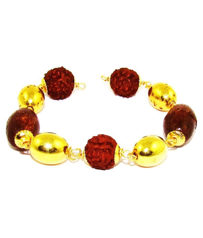 D&D Crafts Rudraksh Beads Bracelet for Men