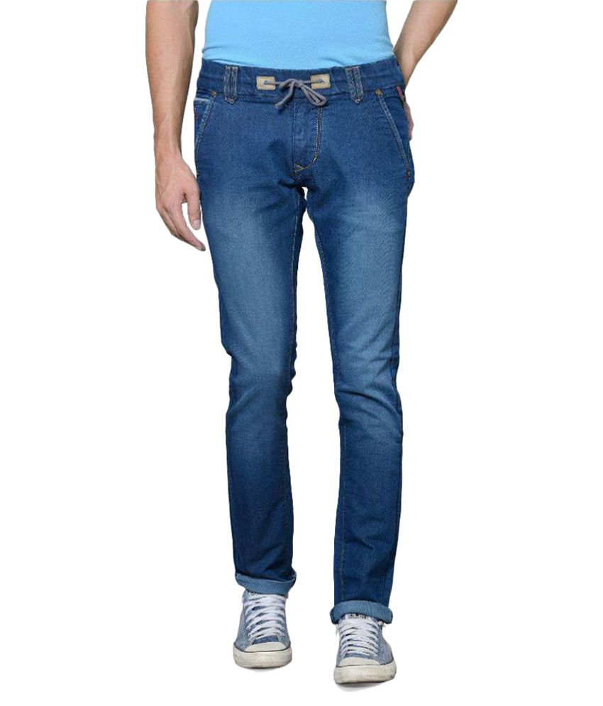 Azov Fashions Blue Slim Fit Jeans