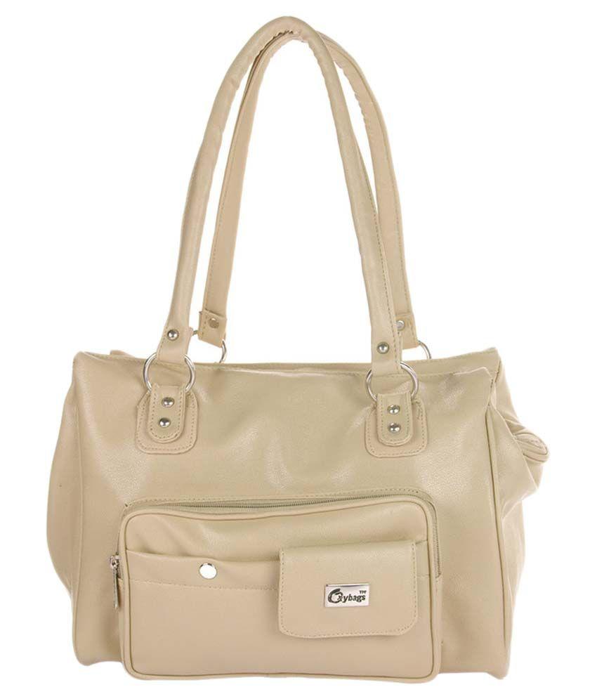 JGShoppe Beige Fabric Shoulder Bag