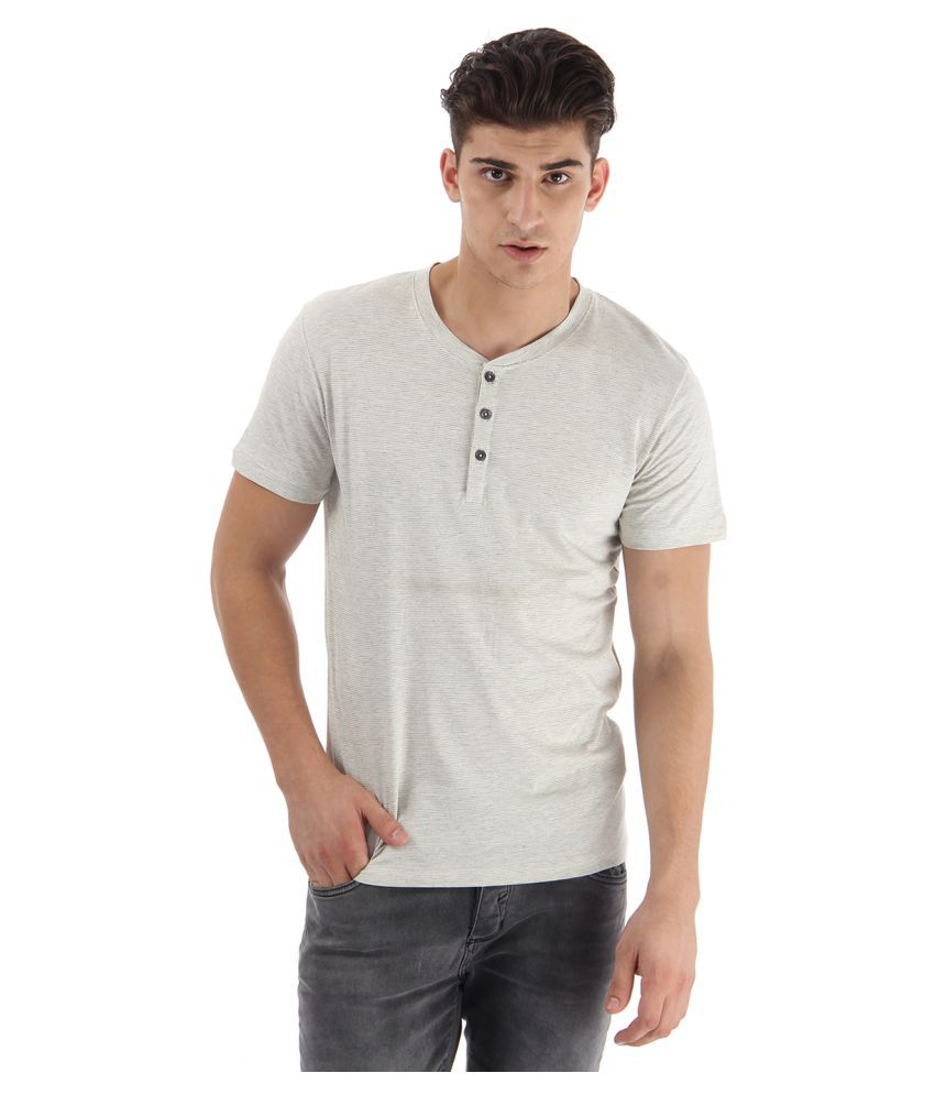 Selected White Henley T-Shirt