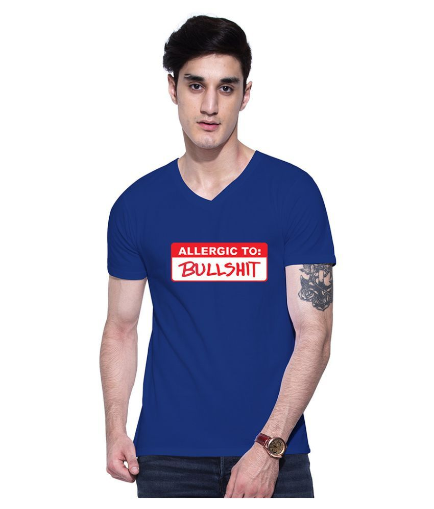Uptown 18 Blue V-Neck T-Shirt