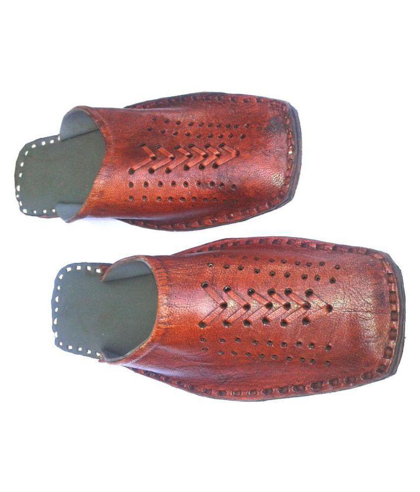 Jaipur Art Bazar Tan Flat Ethnic Footwear