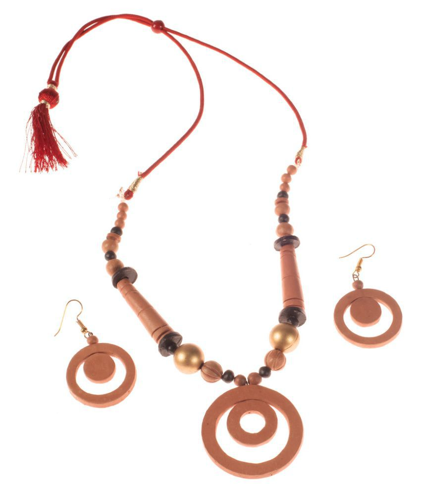 More Bangla Brown Necklace Set