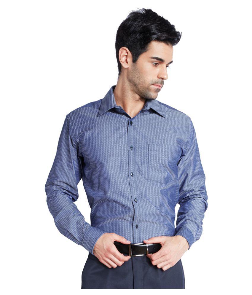 Park Avenue Blue Formal Slim Fit Shirt