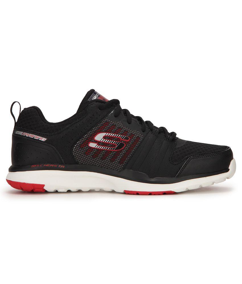 ... Skechers 51542-BKRD Black Training Sports Shoes ...
