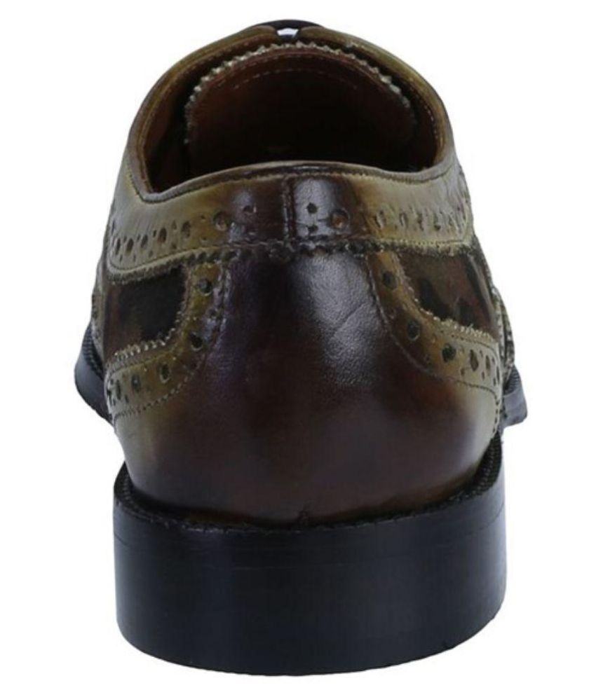 9d8902baa6be Brune Multi Color Brogue Genuine Leather Formal Shoes Price in India ...