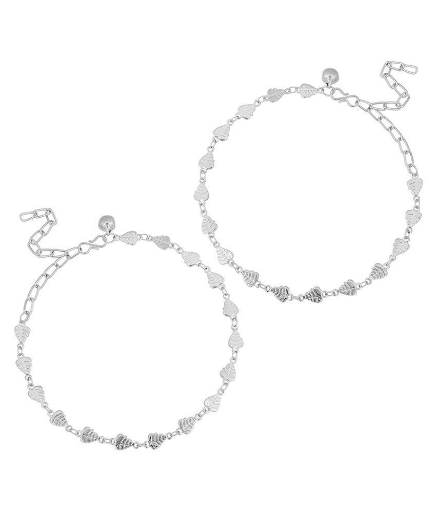 The Luxor Silver Alloy Anklets