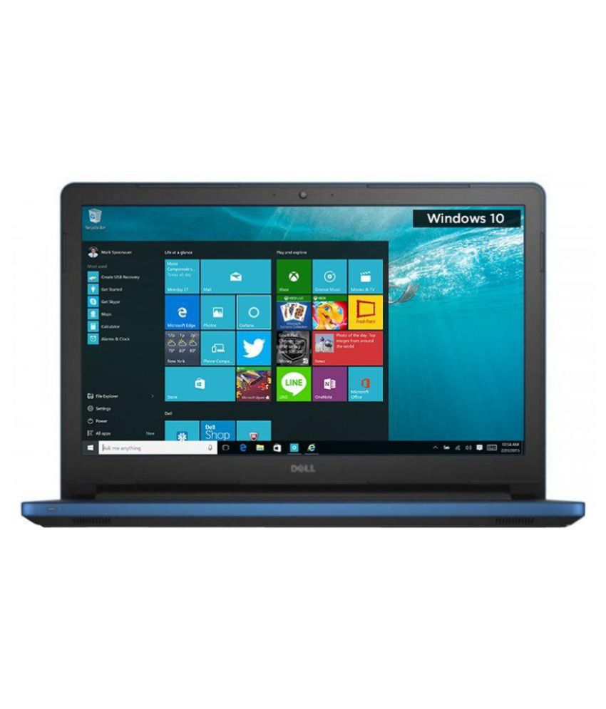 Dell Inspiron Inspiron 15 5559 Notebook Core i3 (6th Generation) 4 GB 39.62cm(15.6) Windows 10 Home 2 GB Blue