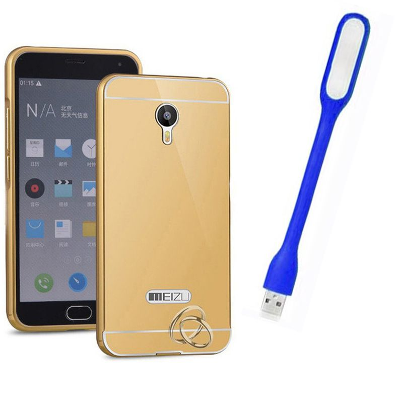 Mirror Back Cover For Meizu M2 + Usb Light free by Style Crome.