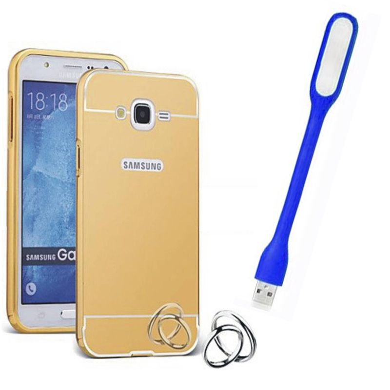 Mirror Back Cover For Samsung Galaxy E5 + Usb Light free by Style Crome.