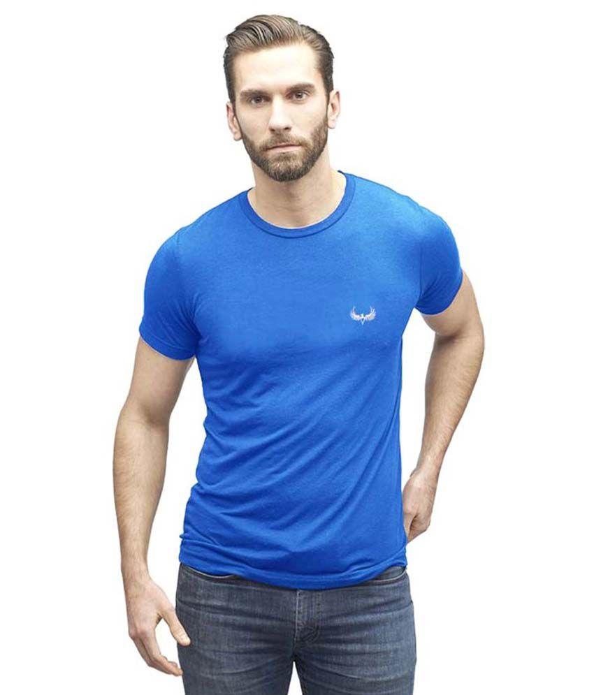 Avenster Blue Round T-Shirt