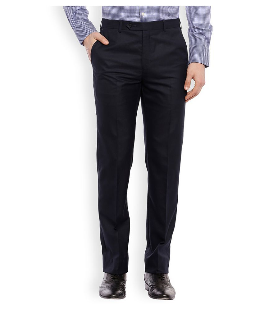 Raymond Black Regular Flat Trouser