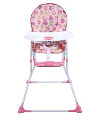 Happy Dino Pink High Chair