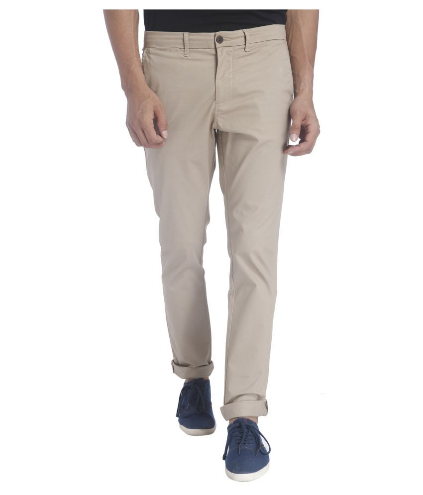 Jack & Jones Beige Slim Flat Trouser