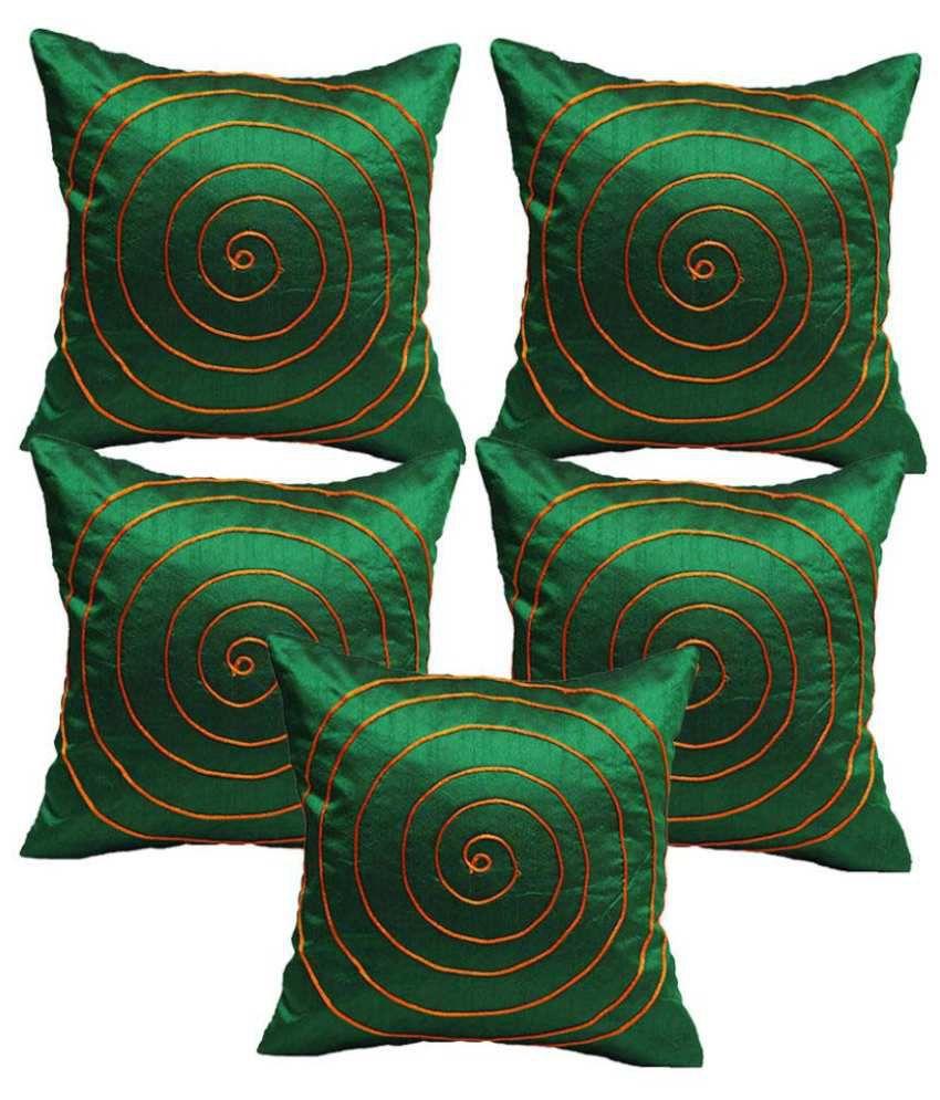 Rang Rage Set of 5 Silk Cushion Covers
