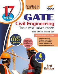 17 years GATE Civil Engineering Topic-wise Solved Papers (2000 - 16) with 4 Online Practice Sets