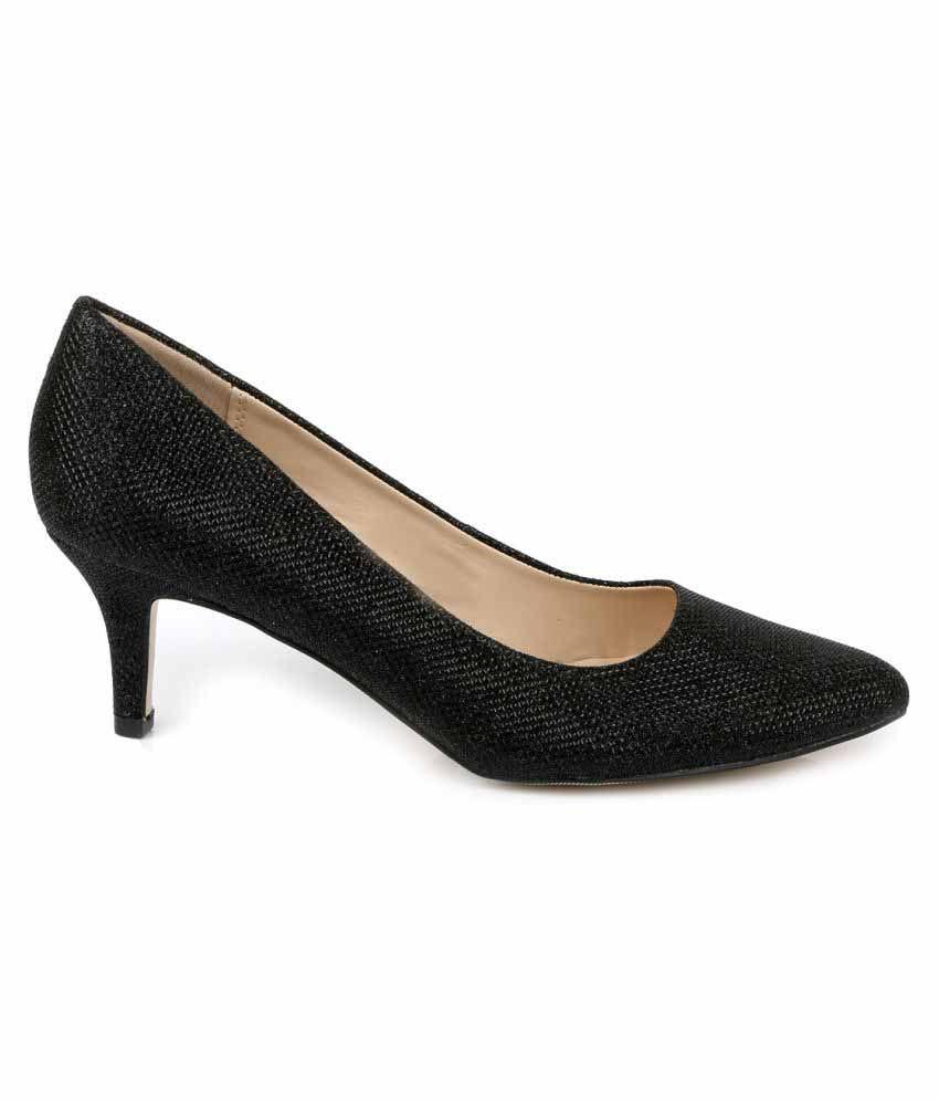Tresmode Black Kitten Heels Price in