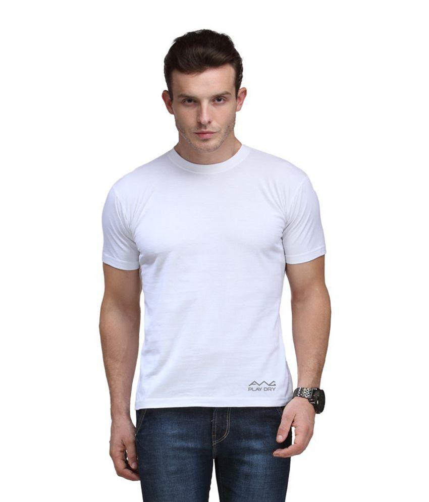 AWG White Round T-Shirt