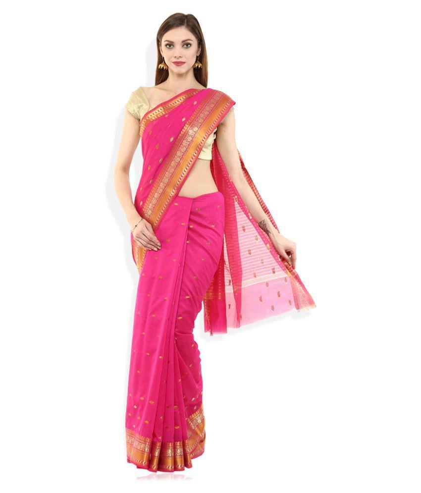 b0582b21d2f Eonn Designers Pink Jamdani Saree - Buy Eonn Designers Pink Jamdani Saree  Online at Low Price - Snapdeal.com