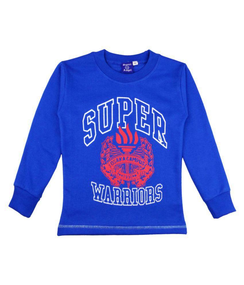 Sweet Angel Blue Fleece Sweatshirt
