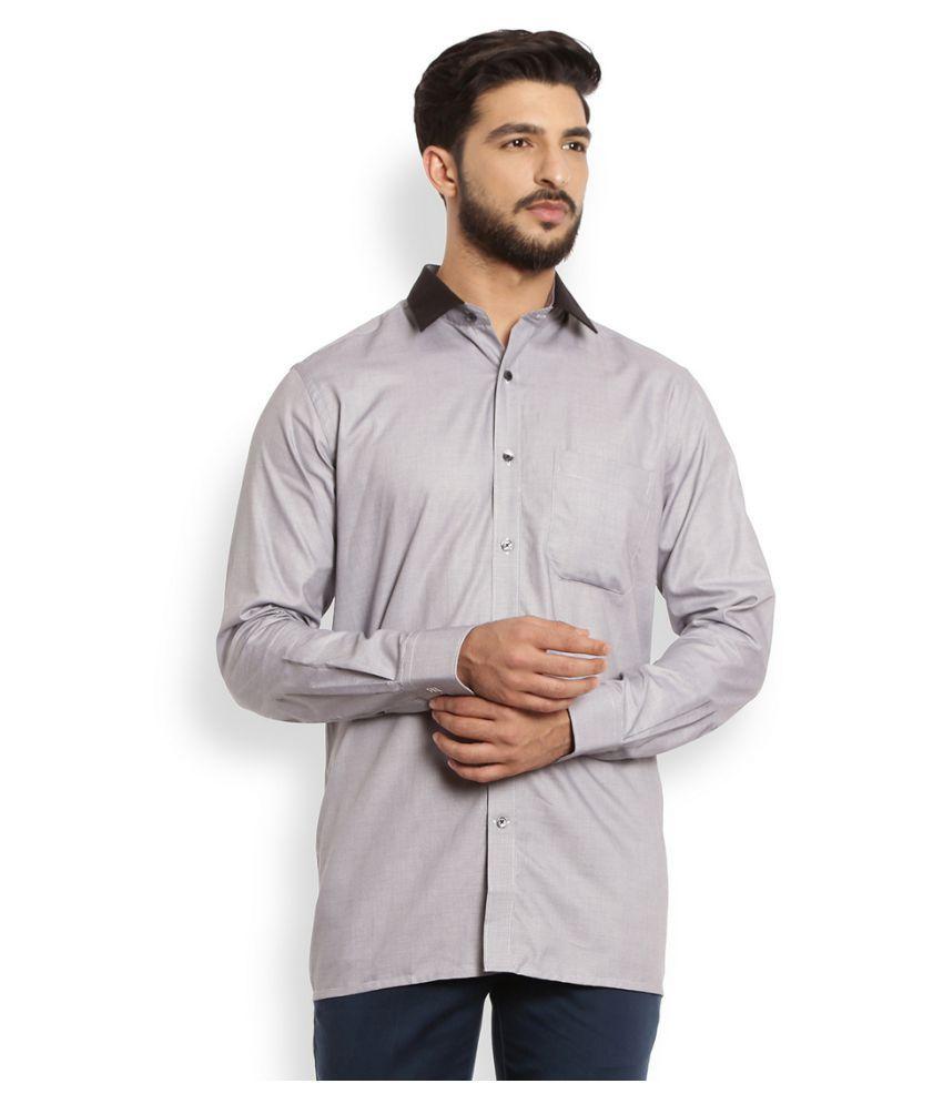 Raymond Grey Formal Slim Fit Shirt