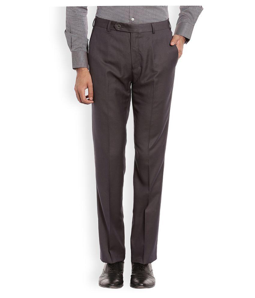 Raymond Grey Regular Flat Trouser