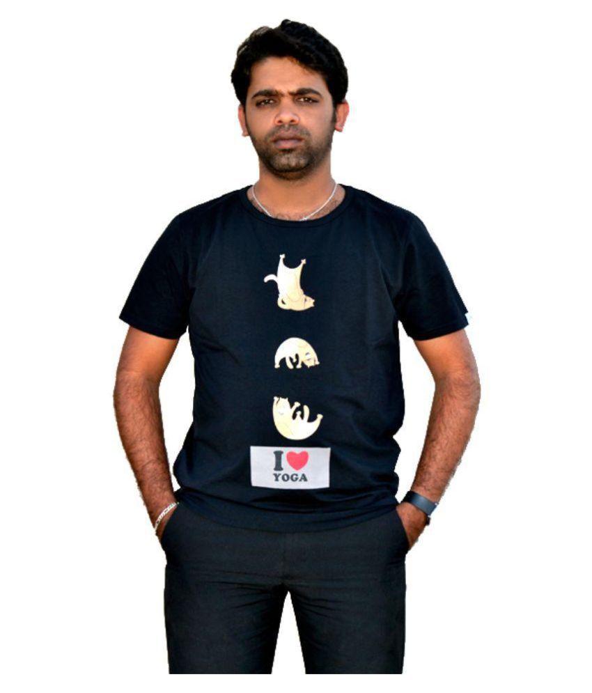 Top Yogi Black Round T-Shirt Pack of 1