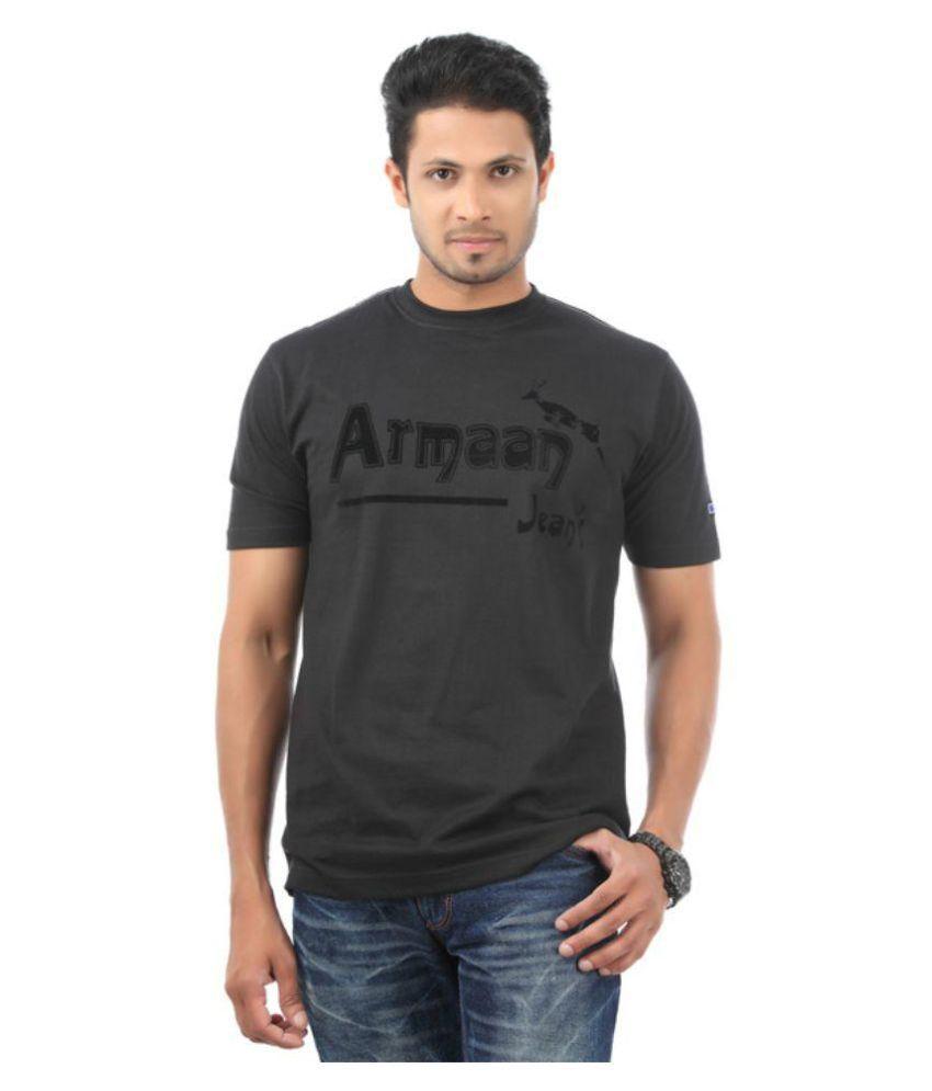 Armaan Jeans Black Round T-Shirt
