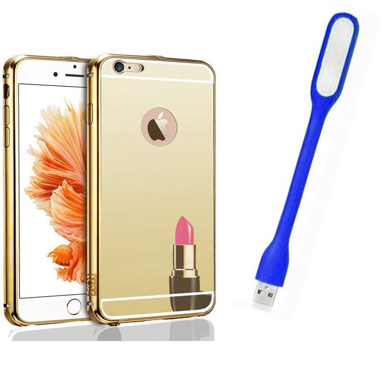 Mirror Back Cover For Apple iPhone 5 + Usb Light free by Style Crome.