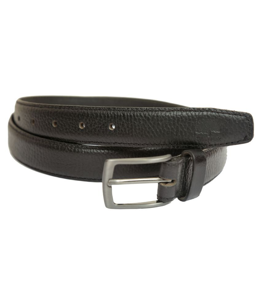 Blue Oak Black Leather Formal Belts