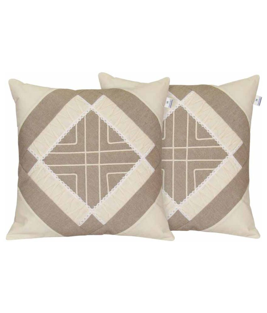 Hemden Set of 2 Cotton Cushion Covers