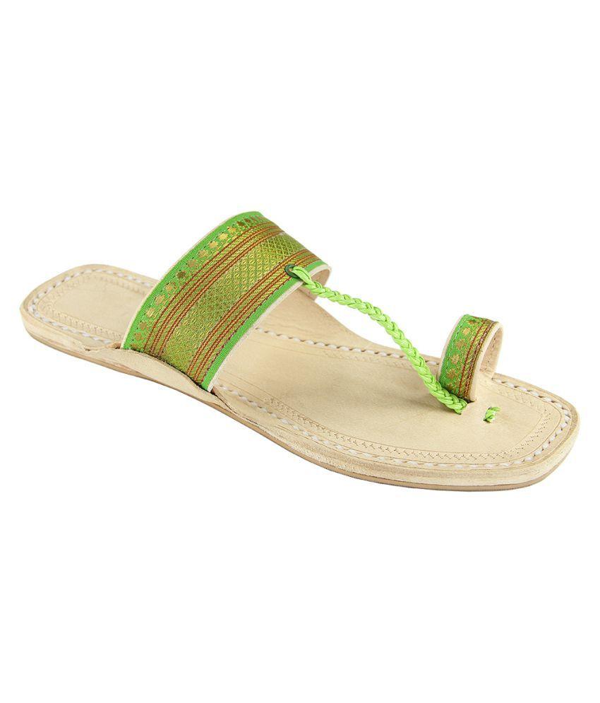 eKolhapuri Multi Color Flat Ethnic Footwear