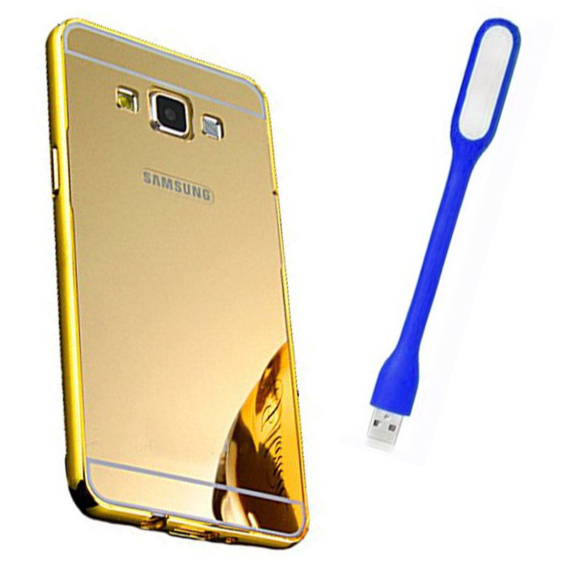 Mirror Back Cover For Samsung Galaxy On7 + Usb Light free by Style Crome.