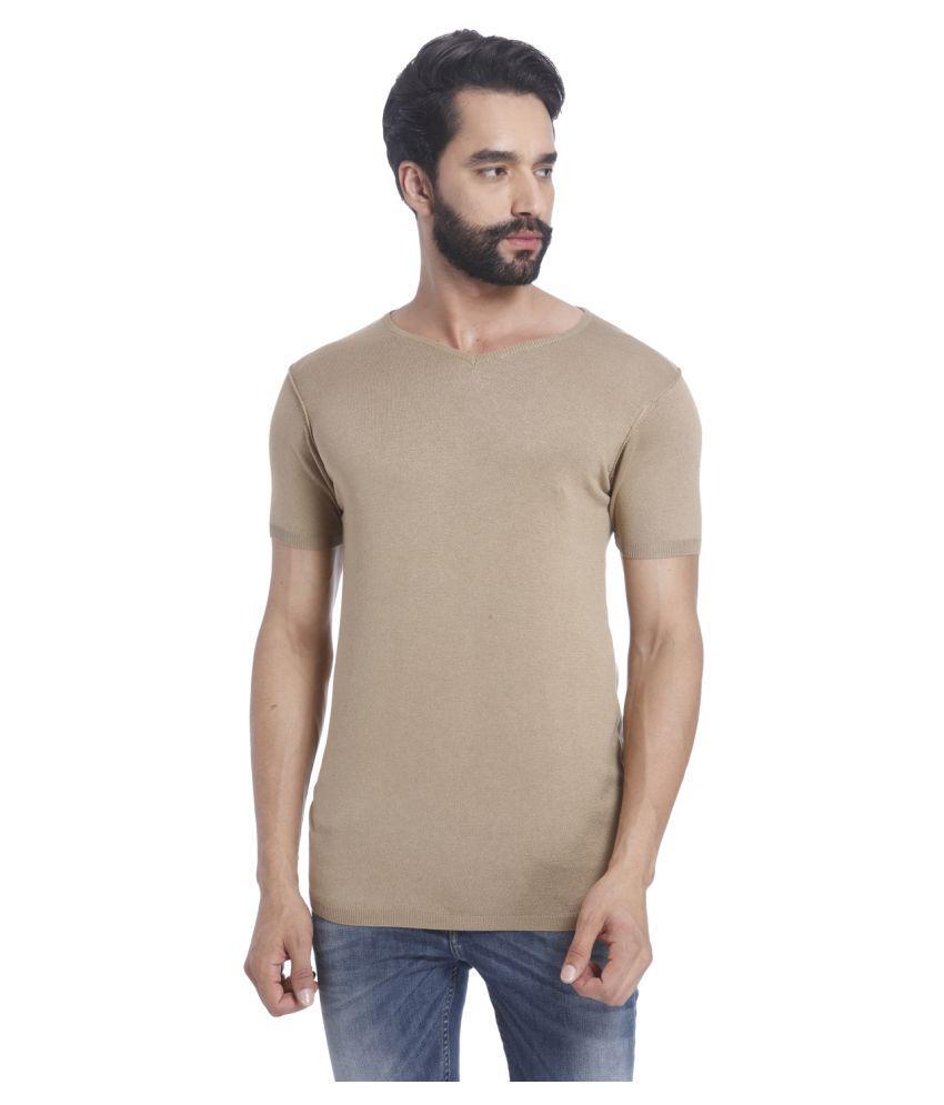 43ccaec4df8fc4 Jack   Jones Brown V-Neck T-Shirt - Buy Jack   Jones Brown V-Neck T-Shirt  Online at Low Price - Snapdeal.com