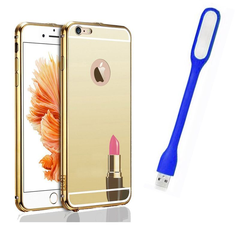 Mirror Back Cover For Apple iPhone 6 + Usb Light free by Style Crome.