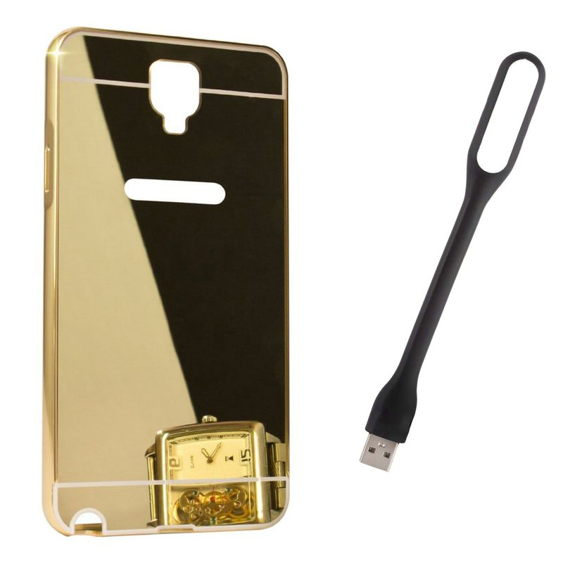 Mirror Back Cover For Samsung Galaxy Grand I9082 + Usb Light free by Style Crome.