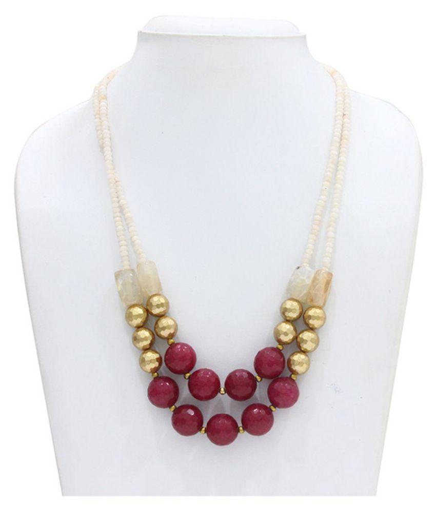 Eighth Fold Multicolour Brass Necklace