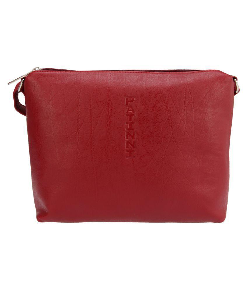 Hide Bulls Maroon Pure Leather Sling Bag