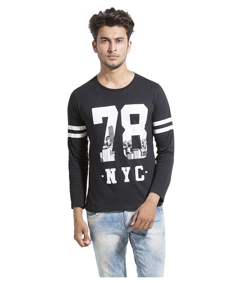 Alan Jones Clothing Black Round T-Shirt