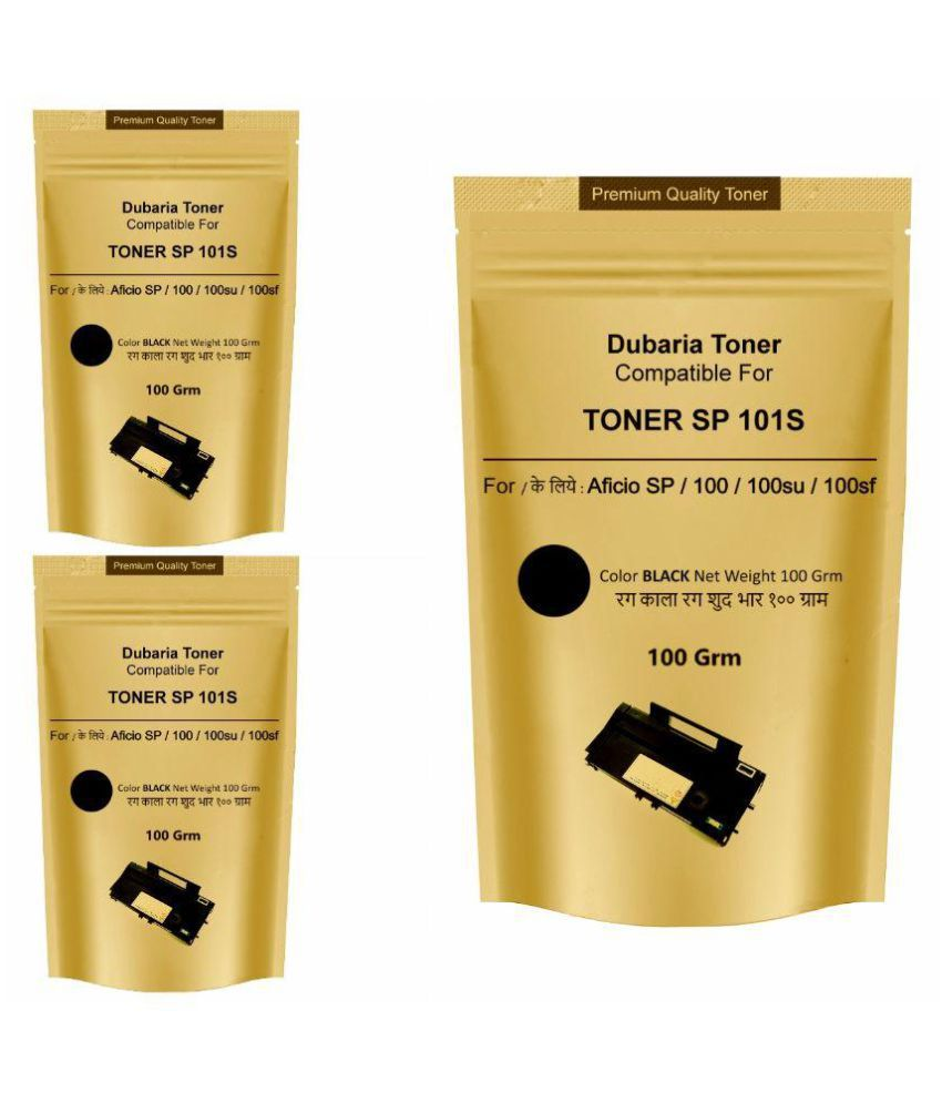 Dubaria Toner powder  For Ricoh SP 100 /  200 / 300 / 3510 / 1200 Printer (Pack Of 3)