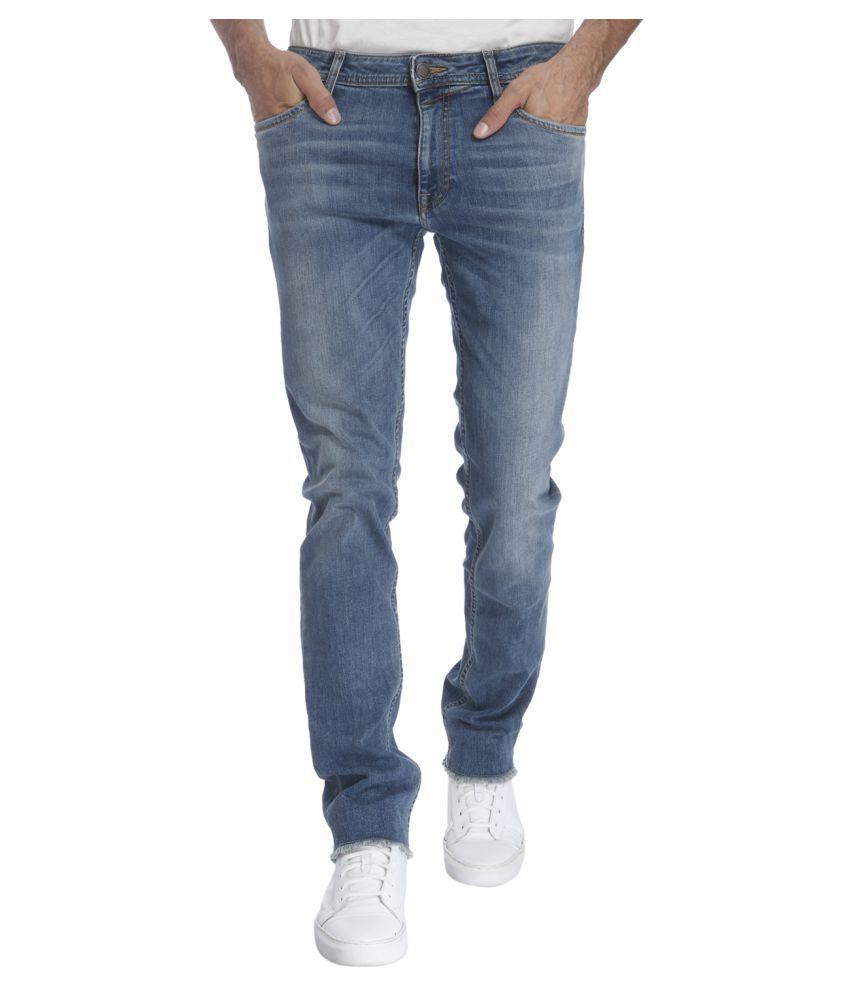 Jack & Jones Light Blue Slim Faded Jeans