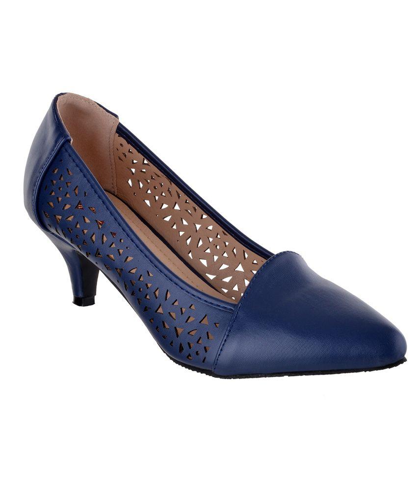 Shuz Touch Blue Kitten Heels