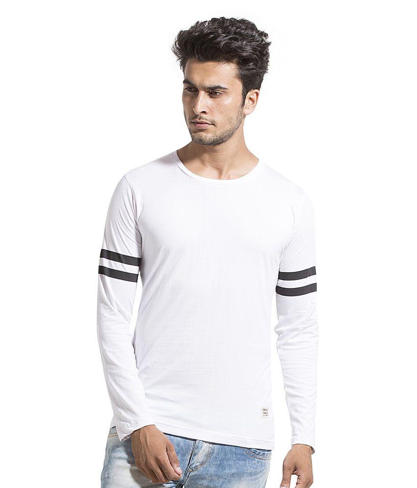 Alan Jones Clothing White Round T-Shirt