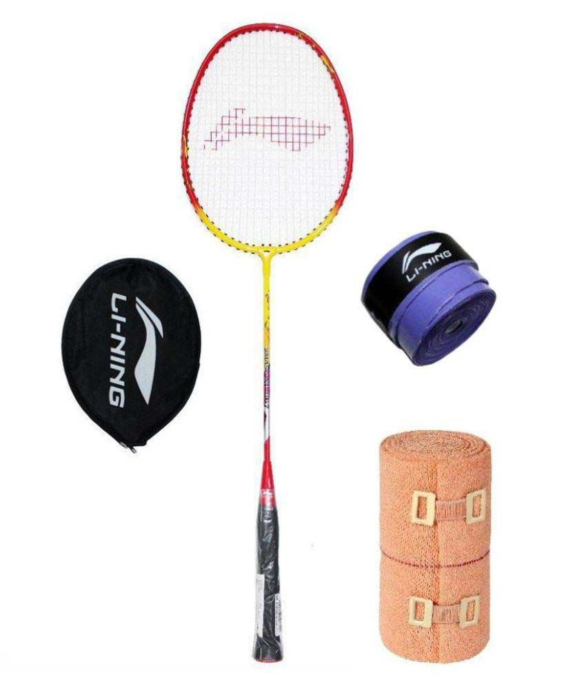 5118a8a0698 Li Ning Smash XP 809 Badminton Racquet with Extra Replacement Grip amp   Free Crepe Bandage
