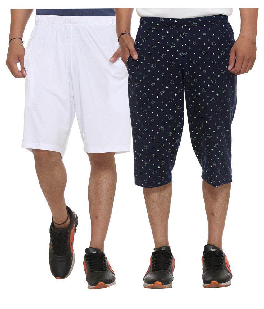 Vimal Jonney Multi Shorts with One Three Fourths