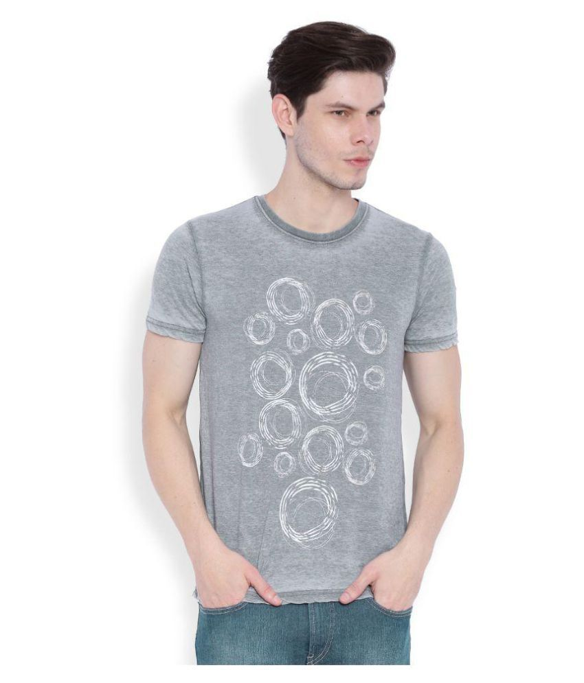 Ankran Grey Round T-Shirt