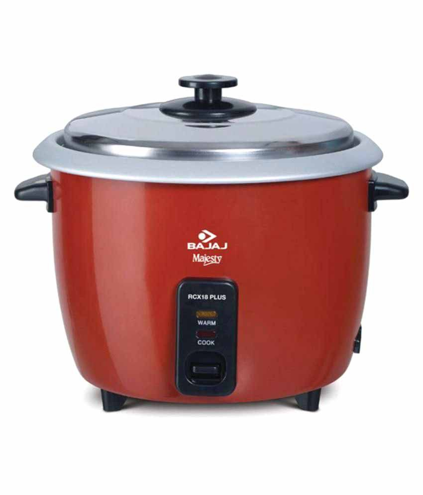 fdc9bc9fe Bajaj Rcx18 plus Rice Cookers Price in India - Buy Bajaj Rcx18 plus Rice  Cookers Online on Snapdeal
